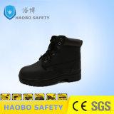Calzature d'acciaio di sicurezza della mascherina del nero del lavoro della fabbrica per gli assistenti tecnici