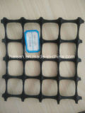 Buena resistencia a la fluencia mejor venta de plástico de geomalla biaxial