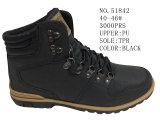 Numéro 51842 l'hiver noir des chaussures d'hommes de couleur amorce la hausse extérieure