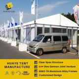 Tienda de aluminio al aire libre del apilador doble de las cubiertas de PVC de la estructura para los acontecimientos