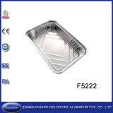 Barbacoa Alimentos uso desechable Caja de aluminio Papel de aluminio