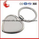 Anello portachiavi su ordinazione a forma di del metallo del cuore promozionale all'ingrosso del punto