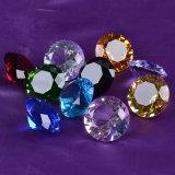 40mm de gros cristaux colorés personnalisée gravée de sulfures en forme de diamant