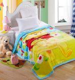 Напечатанное шаржем теплое мягкое одеяло норки полиэфира для детей