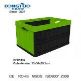 Caixa de Cesta dobrável, Engradado de dobragem de plástico, caixa de armazenamento de dobragem de plástico
