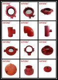 ASTM-A536 accesorios de hierro dúctil Ture ranurado-y para el sistema de combate de incendios