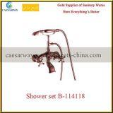 Black porcelaine sanitaire salle de bain Douche robinet Set D-114318