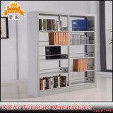 Meubles de livres de bibliothèque Double Face latérale des étagères en acier Jas Rack-064