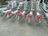 ステンレス鋼の炭素鋼のボイラータンク水オイルの水晶ガラス管のレベルゲージ