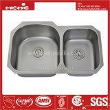 Acier inoxydable de pouce 34 x 20-1/2 sous le bassin de cuisine de cuvette de double de support