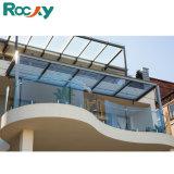 Het rotsachtige Balkon Gelamineerde Traliewerk van de Bril van de Veiligheid met Spon