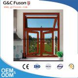Ouvrez la fenêtre de réception en verre en aluminium avec vitre fixe en Chine