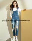 La mujer Denim Blue Jeans larga overoles casual