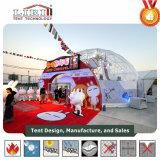 Tenda trasparente del giardino della cupola geodetica con il tessuto libero del PVC per i partiti