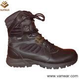 Черные кожаный тактические воинские ботинки в цементе Atheletic (WTB032)