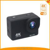lo schermo di tocco 4K mette in mostra gli sport impermeabili DV della macchina fotografica di azione