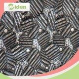 Tela química del cordón del guipur del cordón del poliester africano pesado de las telas 100