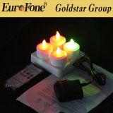 Conjunto de 4 colores Rechrageable vela LED multi con control remoto