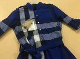 Camice lunghe di stile tessute plaid della tintura del filato di 100%Cotton delle donne