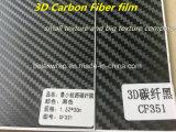 película del vinilo de la fibra del carbón 3D