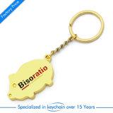 Hochwertiges kundenspezifisches Form Keychain Kartenhalter-Auto Keychain Turbo