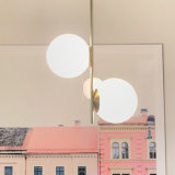 Globo de vidro LED de luz Pendente Lustre moderno estilo criativo