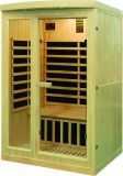 Suministro de fábrica Casa Sauna Canadá cicuta calentador de carbón de madera Sauna Sauna Infrarrojo Lejano Cabaña para 4 persona QD-I4