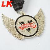 新しい習慣5Kの連続したスポーツの金属の柔らかいエナメルのトロフィメダル