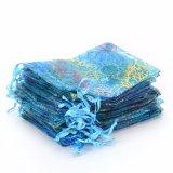 Coralline宝石類のパッキングオーガンザのドローストリング袋の絶妙な袋の方法再使用可能で装飾的なオーガンザ袋(COB-1119)