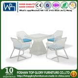 Conjunto de café de vime Cadeira de vime Cadeira de vime Patio mesa de café Mobiliário de exterior Café