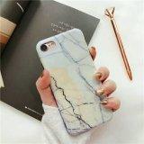 Telefone TPU programável em mármore IMD caso Protector para iPhone