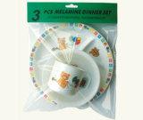 Melamin-Kind-Essgeschirr stellte ein (CH003D)