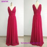 Einfaches und elegantes Chiffon- Brautjunfer-Kleid