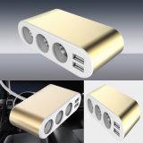 Cargador de coche USB portátil con la toma de coche Multi-Functions