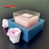 Jarra de vidro decorativo Dom Vela Rosa na caixa personalizada