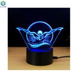 Nachtlicht des Tisch-3D der Lampen-LED mit USB-Stromversorgung