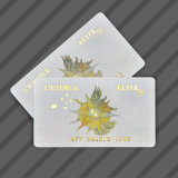 Timbratura calda dell'oro/scheda stagnola di oro VIP/Membership per il commercio