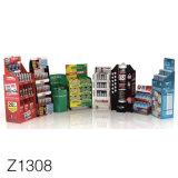 Z1308 Mercadoria Publicidade Papelão Exibir POS Personalizado, suportes para dobragem POS Pop-up display de suporte de papelão
