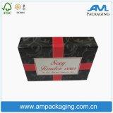 Caixas de papel preto personalizadas para caixa de peruca de embalagem de cabelo para Lady Beauty