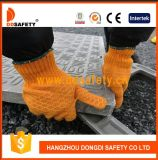 Ddsafety 2017 Heavyweight Orange String Knitted PVC Miel Comb Pattern Deux côtés Gant de travail