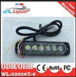 Super Slim Testigo de montaje en superficie de luz intermitente de 6 LED