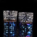 Tarro de la vela del vidrio de modelo de la cesta de la decoración de la boda