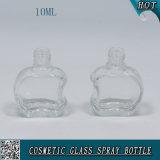 Mini frasco de perfume 10ml de vidro irregular com pulverizador e o tampão de alumínio