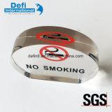 Nr - de rokende Duidelijke AcrylVertoning van het Teken