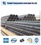Riga saldata tubo d'acciaio di spirale del carbonio per l'olio dell'acqua