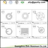 Profili di alluminio/dissipatore di calore/radiatore illuminazione dell'espulsione per materiale da costruzione