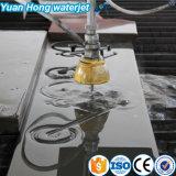 Cortadora del jet de agua del CNC de 3 ejes para el corte de piedra, corte de mármol