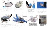 Unidad de silla dental médica de cuero genuino con sistemas de teclas táctiles