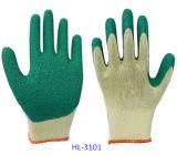 перчатка покрытия латекса Polycotton резьб 10g 5 половинная