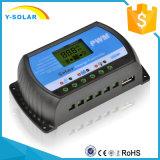 Controlador solar 40A 12V/24V da carga com o USB-5V/3A que cobra Rtd-40A